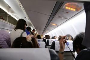 機体のように上昇を続ける機内サービスの徹底