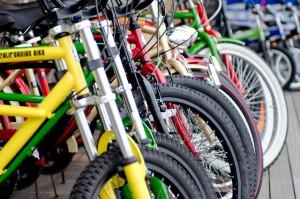 店内に子供用自転車試乗コース配置で親子でじっくり選別!!